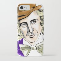 willy wonka iPhone & iPod Cases featuring Willy Wonka by Bubble Trump Ltd