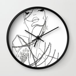 Indulge Me Wall Clock