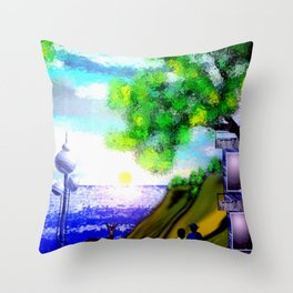Sunset on the Baltic Sea. Throw Pillow