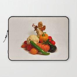 Corn husk doll and vegetarian food Laptop Sleeve