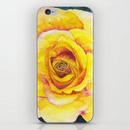 Yellow Rose Watercolor iPhone Skin