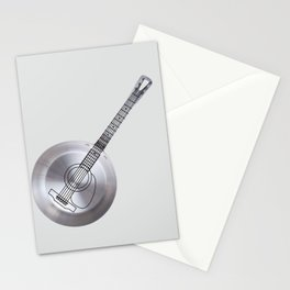 frying pan guitar Stationery Cards