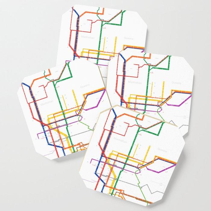 City Subway Map.New York City Subway Map Coaster By Igorsin