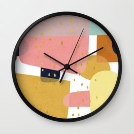 Conglomeration in Pastel Wall Clock