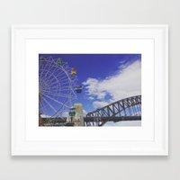 sydney Framed Art Prints featuring sydney. by jemimahana