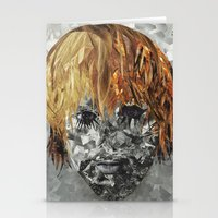 kurt cobain Stationery Cards featuring Kurt Cobain by Smith Smith