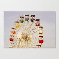 ferris wheel Canvas Prints featuring Ferris Wheel by Elsa Harley