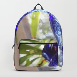 Blue glass and plant Backpack