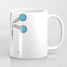 Audio music player with earphone Coffee Mug