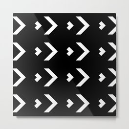 Chevron Pattern Metal Print