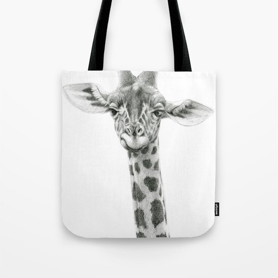 Young Giraffe  G2012-053 Tote Bag