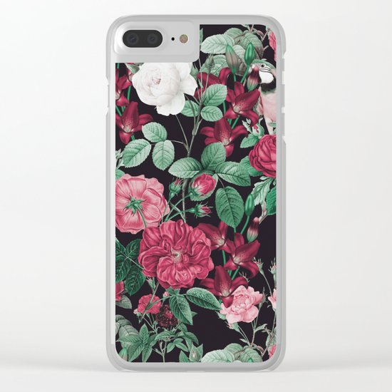 Fall/Winter17-18 Botanical Pattern Clear iPhone Case