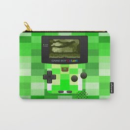 Gameboy Color Green Creeper Carry-All Pouch