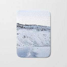 Kerid Crater In Winter, Iceland Bath Mat