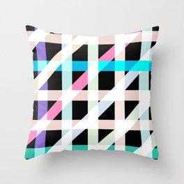 Weaving Soft Light in Black Throw Pillow