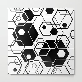 Hexagons Overlapped Metal Print