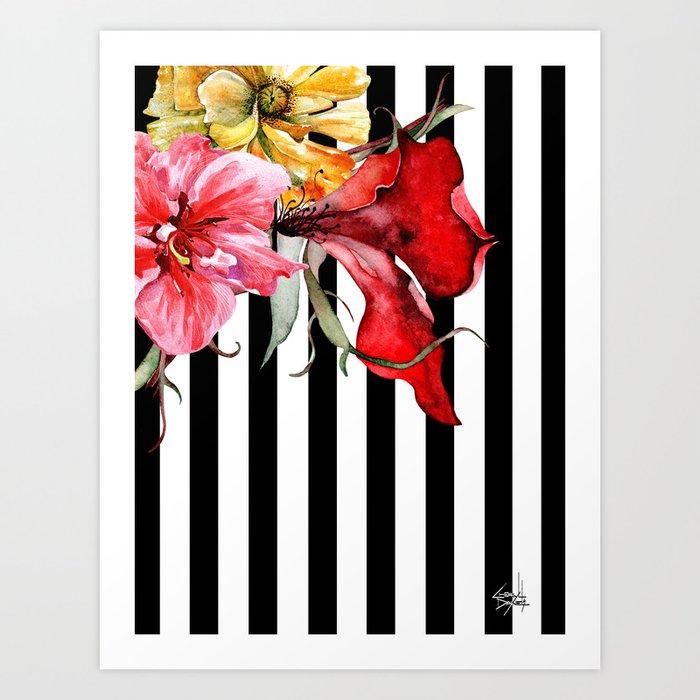 FLORA BOTANICA | stripes Art Print