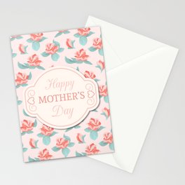 Happy Mother's Day Floral pattern Stationery Cards