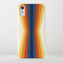 Bright 70's Retro Stripes Reflection iPhone Case