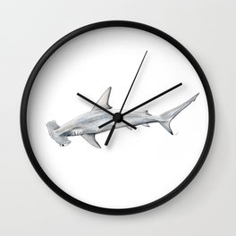 Hammerhead shark for shark lovers, divers and fishermen Wall Clock