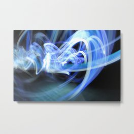 (Mostly) Blue Light Painting Metal Print