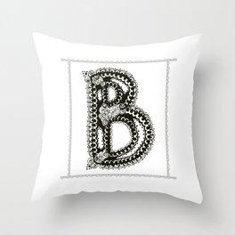 Color Me B Throw Pillow