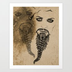 The Bearded Lady Olga  Art Print