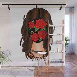 Roseface Woman Wall Mural