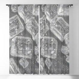 Sugar Crystals under a microscope Sheer Curtain