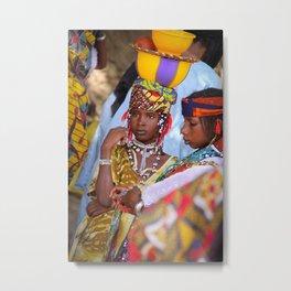 Fulani girl, Burkina Faso Metal Print