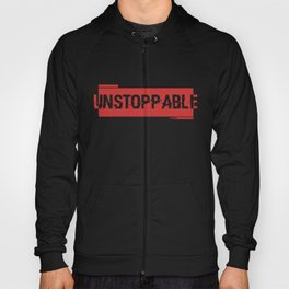 Unstoppable force red logo Hoody