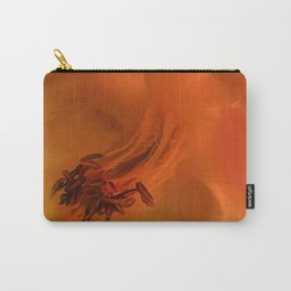 Columbine Flower Edited Orange Carry-All Pouch