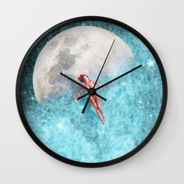 FLOATING TO THE MOON Wall Clock