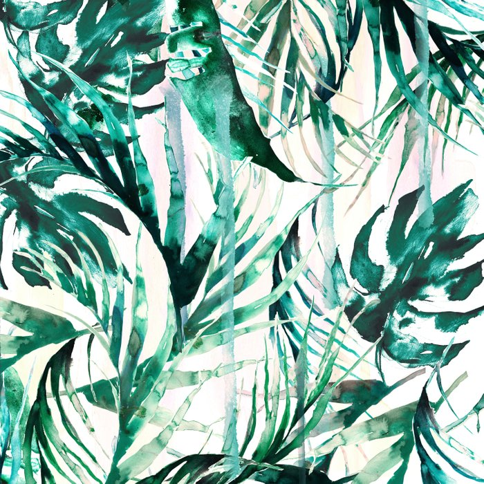 Green Tropical paradise  Duvet Cover