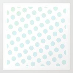 Polka Dots Watercolor Art Print