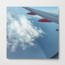 Clouds over the Med Metal Print