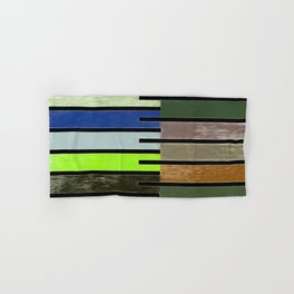 Ladder Color Blocks Complimenting Coral Hand & Bath Towel
