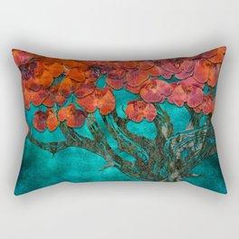 Abstract  Flower Tree Digital art Rectangular Pillow