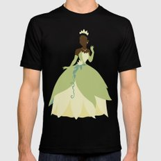 Tiana from Princess and the Frog Black Mens Fitted Tee 2X-LARGE