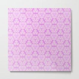 Delicate Pink Lavender Pattern Design Metal Print