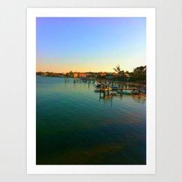 Waterfront View Art Print