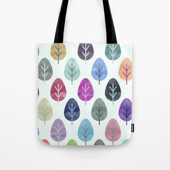 Watercolor Forest Pattern  Tote Bag