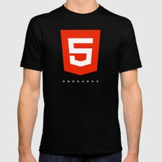 HTML5 Brand Launch Mens Fitted Tee Black MEDIUM