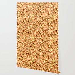 Faux Giraffe Skin Abstract Pattern Wallpaper