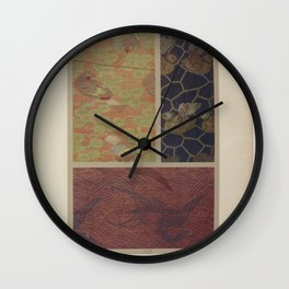Verneuil - Japanese paper and fabric designs (1913) - 62: Birds & trees; mandarin ducks; cranes Wall Clock