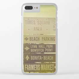 Lets go to the beach Clear iPhone Case