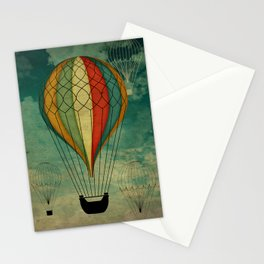 1er vuelo Aerostático en España Stationery Cards