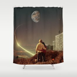 We Used To Live There, Too Shower Curtain