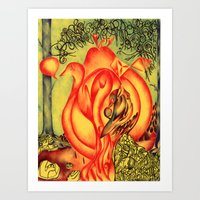 In Pears  Art Print