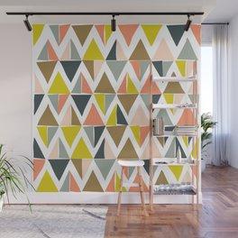 Colorful Geometric Triangle Pattern Wall Mural